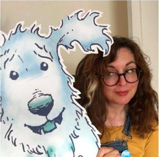 ADSM Claire Barker with Knitbone Pepper ghost dog